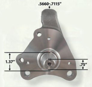1970-1974 Stock Height Spindles W/Caliper Brackets
