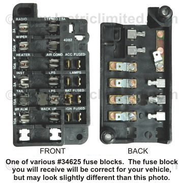 el camino parts - 1964-1972 fuse box 67 chevelle fuse box diagram #3