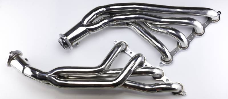 Exhaust Header 08-09 Pontiac G8 1 3.4 in Primary 2.50 in Collector Long Tube Full Length Hardware Incl Polished 304 Stainless St