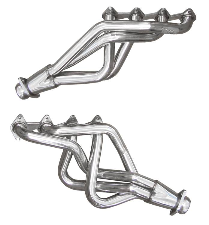 Exhaust Header 05-10 Mustang GT 3/4 in Long Tube Hardware Incl Polished 304 Stainless Steel Requires PN HFM55 Or XFM55} Pipe To