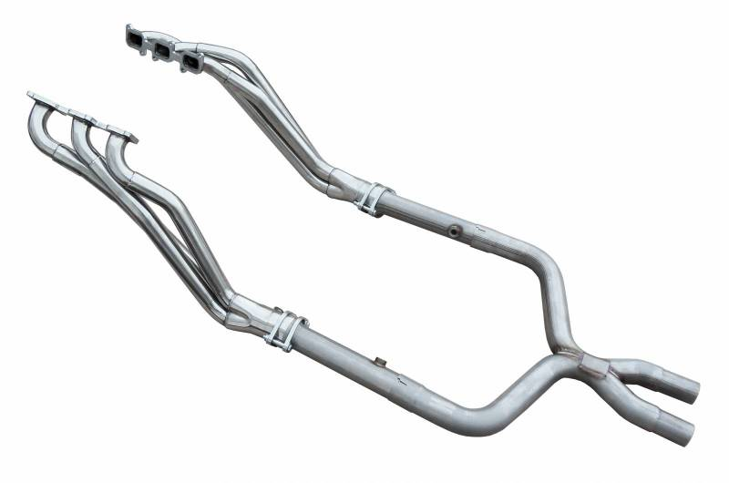 Exhaust Header Long Tube w/Offroad X-Pipe 11-14 Ford Mustang V6 Hardware Included Polished 304 Stainless Steel Header 409 Stainl