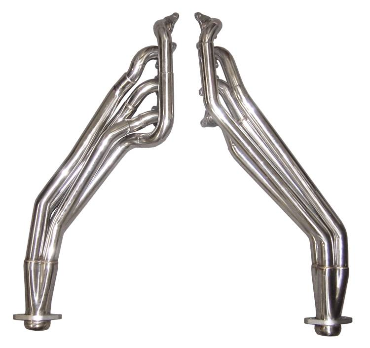 Exhaust Header 1 5/8 in Long Tube Full Length 11-14 Ford Mustang Hardware Incl Polished 304 Stainless Steel Pypes Exhaust