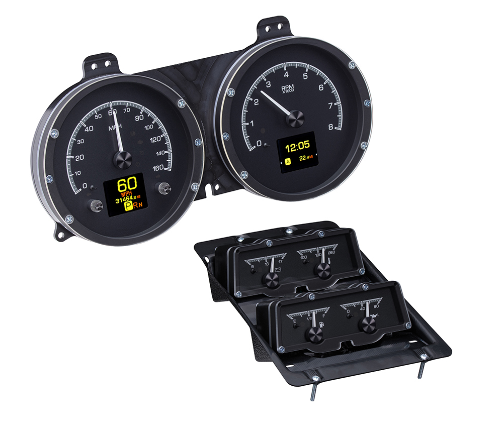 1968 Chevy Camaro w/Console Gauges HDX System, Black Face