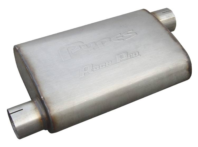 Race Pro Series Muffler 14 in 2.5 in Offset/Offset Hardware Not Incl Natural 409 Stainless Steel Pypes Exhaust