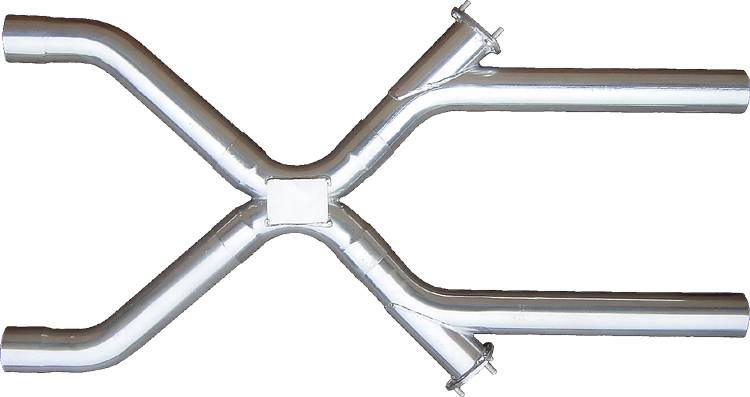 Xchange X-Pipe Crossover Kit Intermediate Pipe 3 in Hardware Inc Polished 304 Stainless Steel Pypes Exhaust