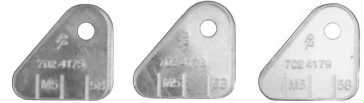 1964 TRI-POWER CARBURETOR IDENTIFICATION TAGS - AUTOMATIC TRANSMISSION (SET)