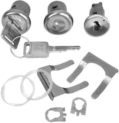 1966-1967 Ignition and Door Set CL104