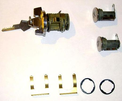 1970-1971 Ignition & Door Lock Kit Blank (W/O Illumination)