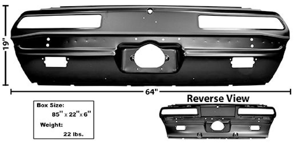 1969 Rear End Tail Light Panel (RS)