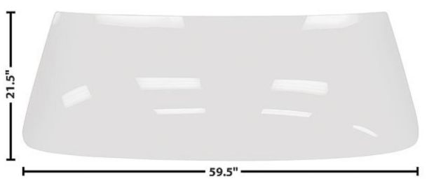 1966-1967 Windshield (Clear)