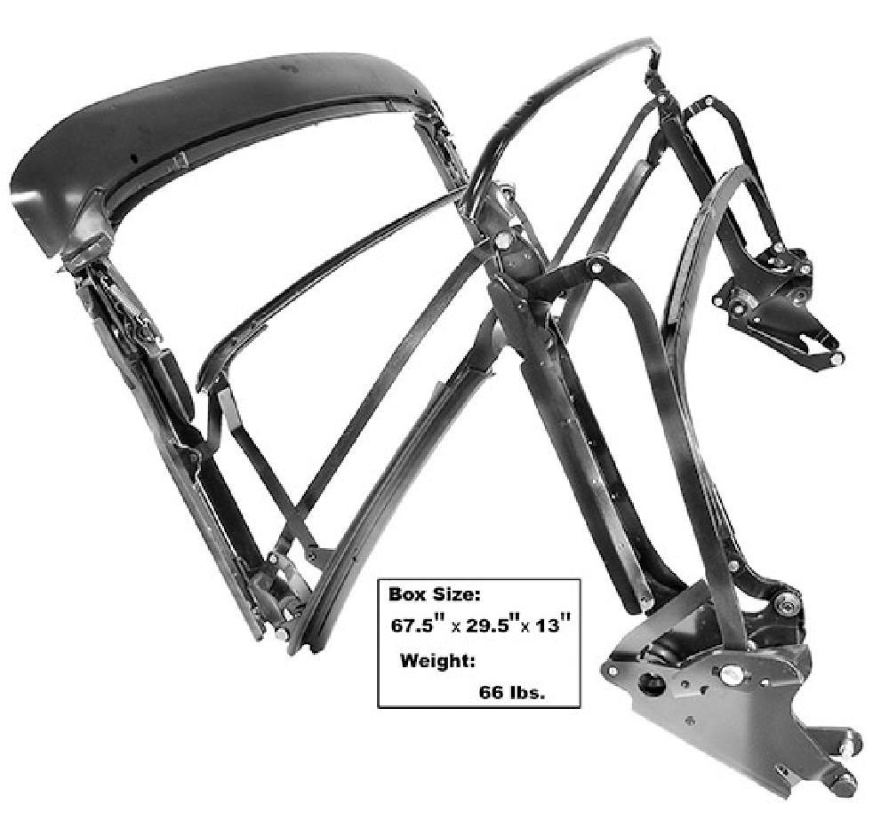 1970-1972 CONVERTIBLE TOP FRAME ASSEMBLY