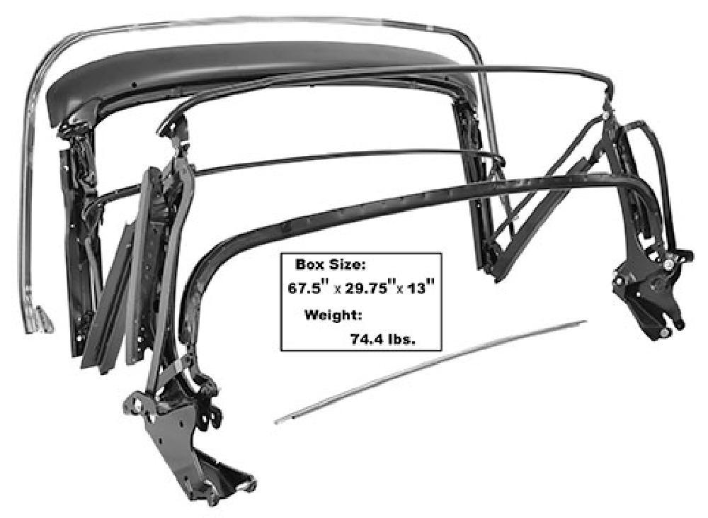 1968-1972 Convertible Top Frame Assembly (Manual)