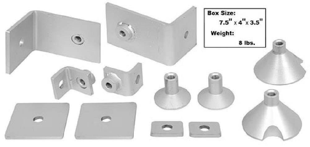 1964-1973 Shoulder Belt Mounting Kit (Weld Through Primer) - 12Pc