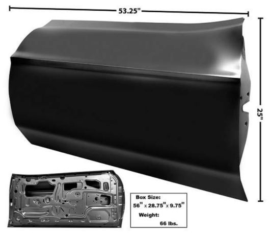 1971-1973 Door Shell (w/o door handle holes) - LH