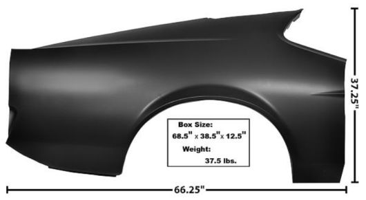 1971-1972 Full Quarter Panel (Fast Back, w/o lamp holes) - RH