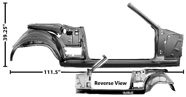 1965-1966 Quarter/Door/Pillar Frame Assembly (Convertible) - RH