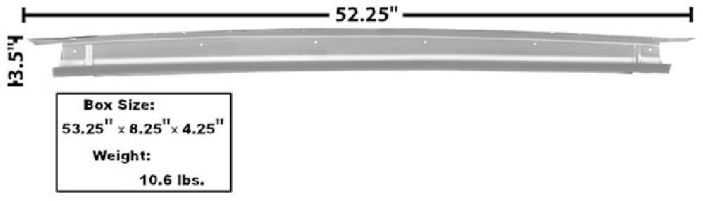1965-1966 Trunk Divider Bridge Support (Convertible, Weld Through Primer)