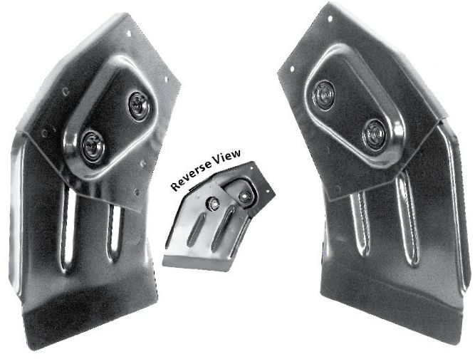 1965-1966 Trunk Hinge Brackets (Convertible) - PR