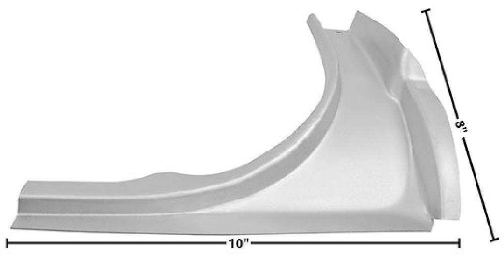 1964-1966 Trunk Upper Rear Corner (Coupe,Convertible, Weld Through Primer) - RH