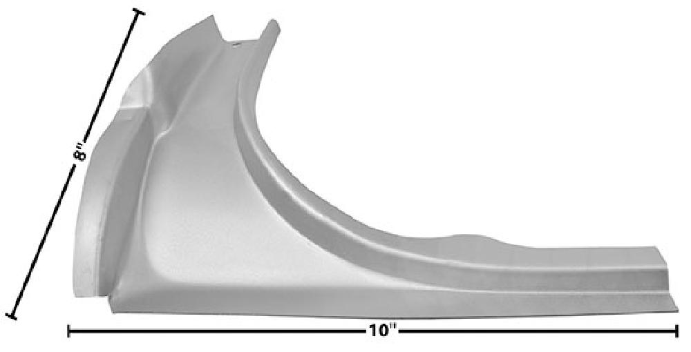 1964-1966 Trunk Upper Rear Corner (Coupe,Convertible, Weld Through Primer) - LH