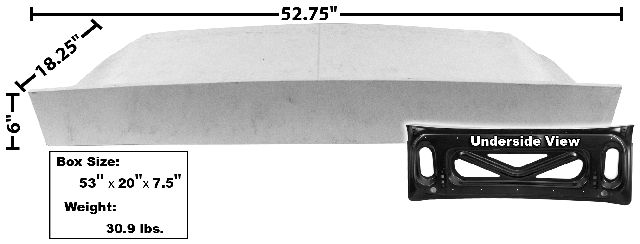 1967-1968 TRUNK LID, SMC (Fastback)