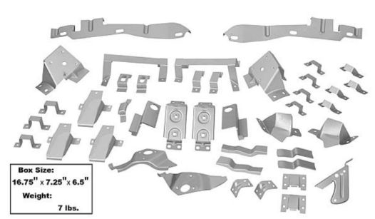 1967-1968 Body Bracket Kit (Fastback) - 42Pc