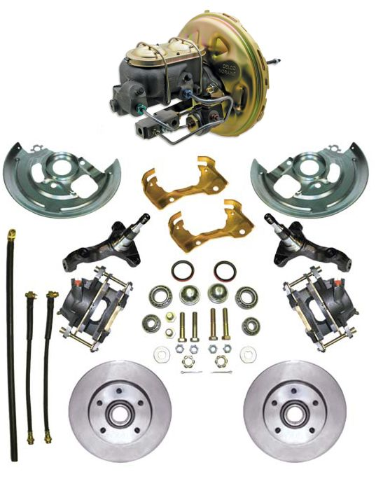 1964-1972 Complete Stock Height Disc Brake Kit (Standard, w/O.E booster)