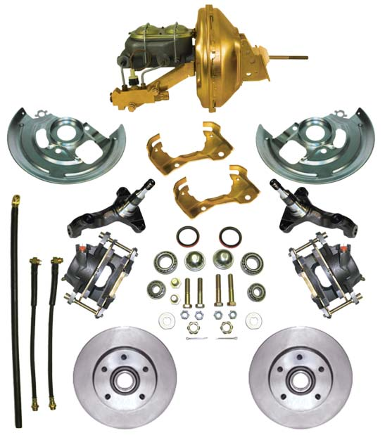 1964-1972 Complete Stock Height Disc Brake Kit (Standard, w/standard booster)