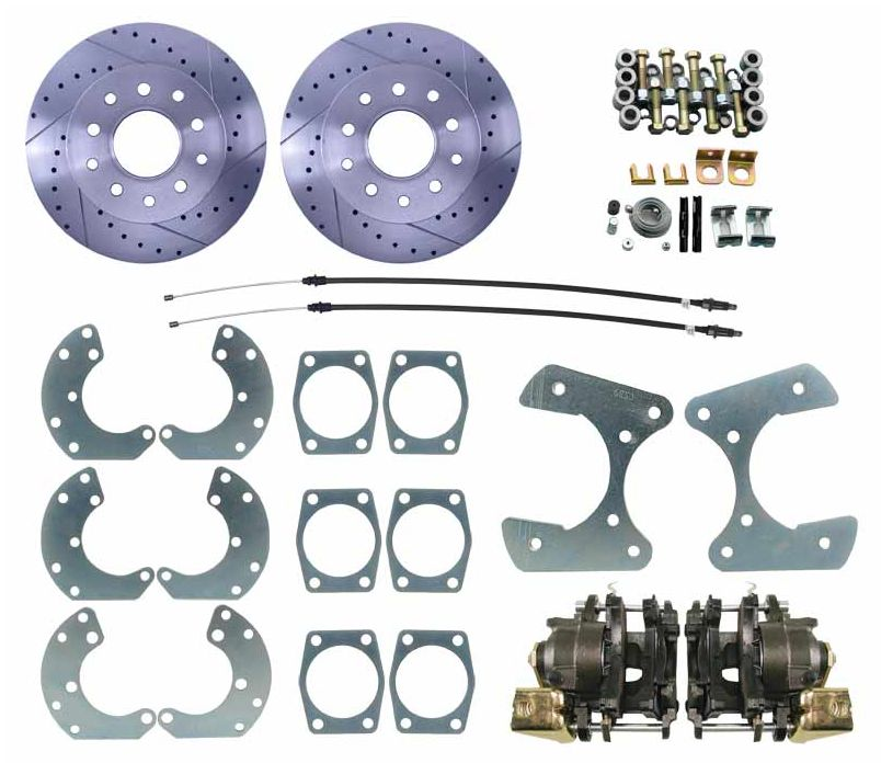 "1964-1973 Ford 9"" Rear-End Universal Disc Brake Kit - High Performance"