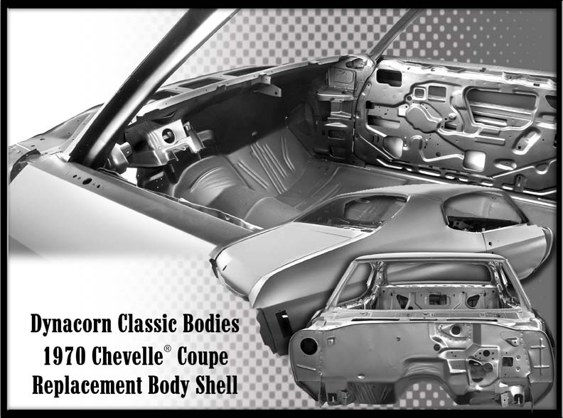1970-1972 Coupe Replacement Body Shell