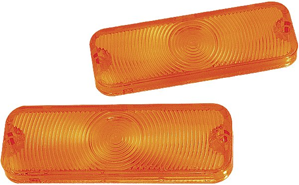 1964 Parking Lamp Lens, Amber (Good Quality) - PR