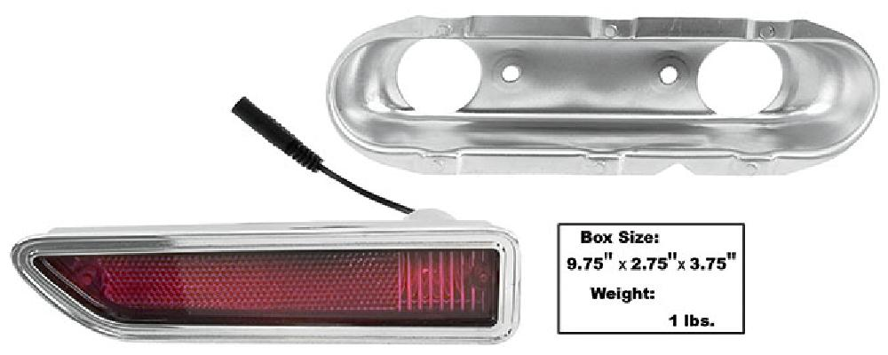 1970-1971 Rear Side Marker Lamp (Red) - RH