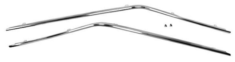 1971-1973 Drip Rail Molding Set (Coupe) - 2Pc