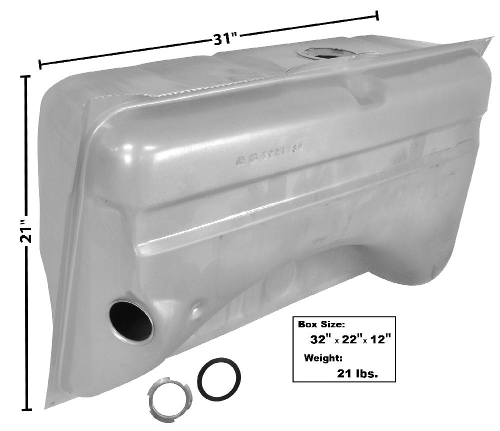 "1967 Fuel Tank (2.25"" Filler neck) - 18Gal"