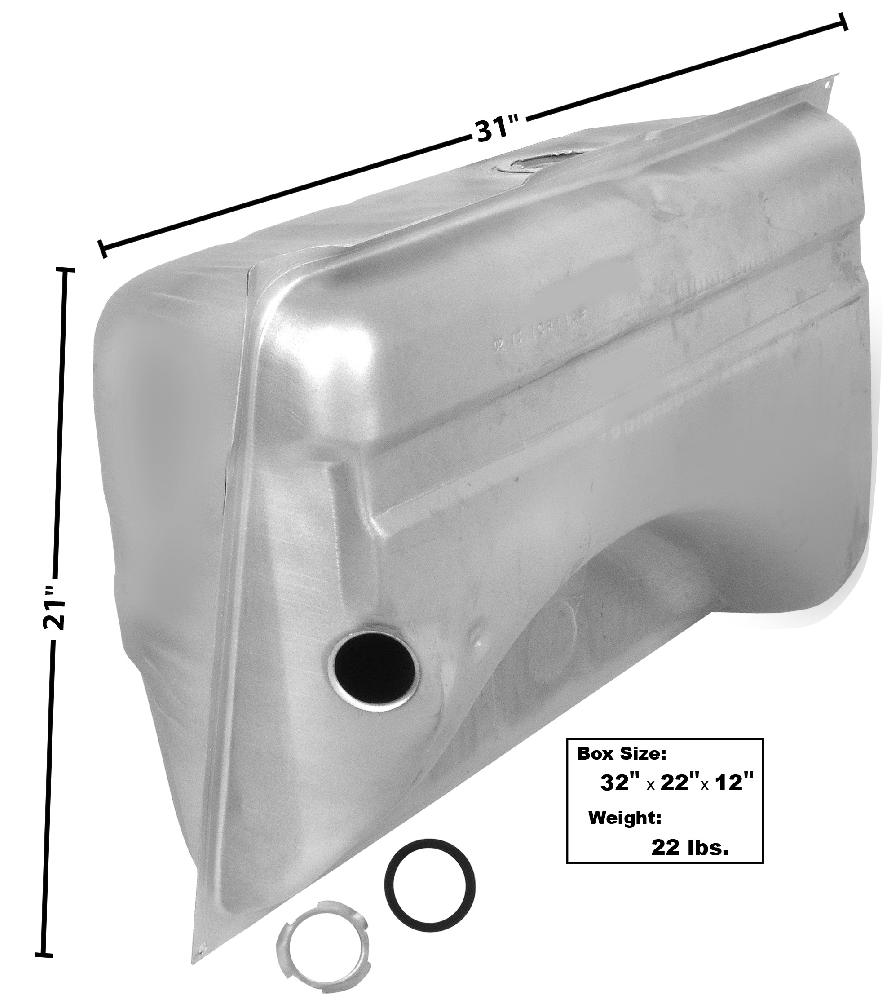 "1964-1966 Fuel Tank (w/o E.E.C., 2"" Filler neck) -18Gal"