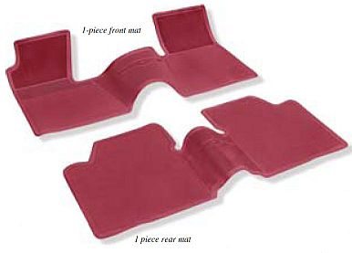 1962-1964 Rubber Floor Mats (W/O Console) - 1 Full Front/Rear