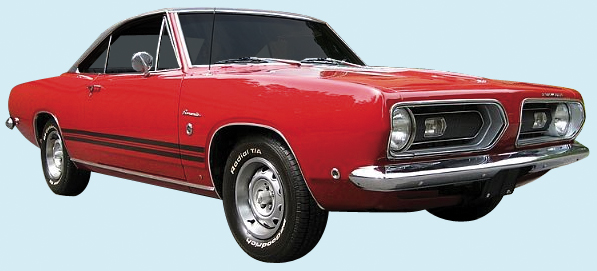 1967-1968 Barracuda Decal Kit (W/Deck Lid Stripe)