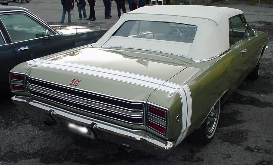 1967-1969 Convertible Top (Rear Window Only)
