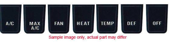 1968-1970 Heater/AC Control Button Labels