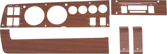 1969-1970 Rallye Dash Woodgrain Bezel Set