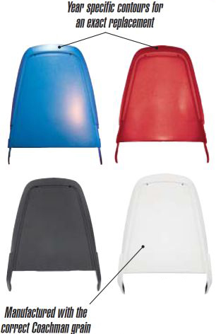 1970-1974 Bucket Seat Backs (Injection Molded) - PR