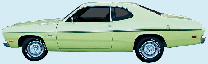 1970 Duster Decal Kit