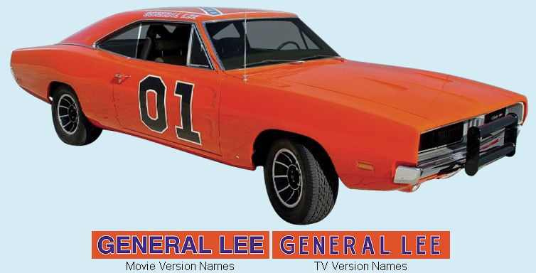 1969 General Lee Charger Decal Kit