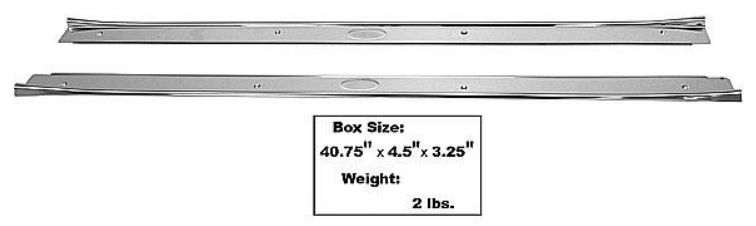 1964-1967 Sill Plates (Stainless Steel) - PR