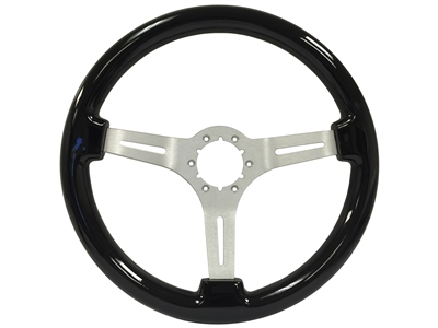 1966-1974 S6 Sport Black Ash Wood Steering Wheel