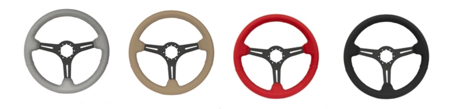 1967-1976 S6 Sport Premium Leather Steering Wheel (w/Black Anodized Center)