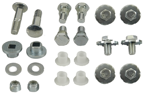 1967-1969 Convertible Top Pivot Bolt/Bushing Set (New Tooling)