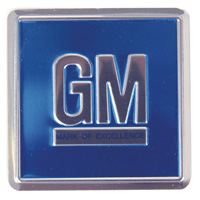 1968-1970 GM MARK (BLUE) FOIL DECAL-EACH