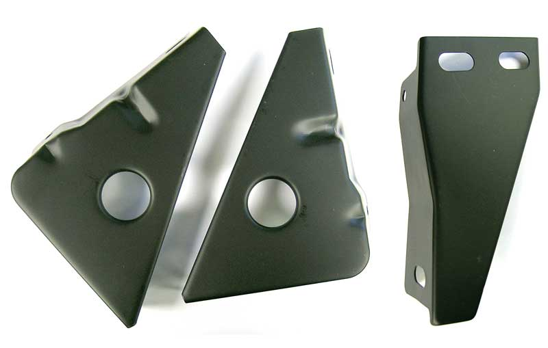 1967-1968 Mustang Stone Deflector Bracket Set - 3Pc