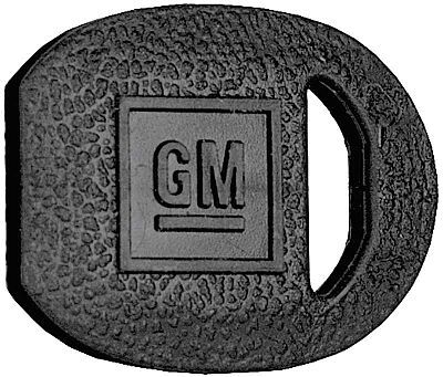 1969-1974 Black Oval GM Ignition Key Cover